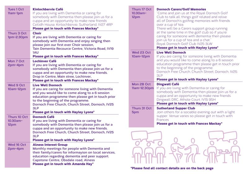 Alzheimer Scotland What's on Guide Oct pg2