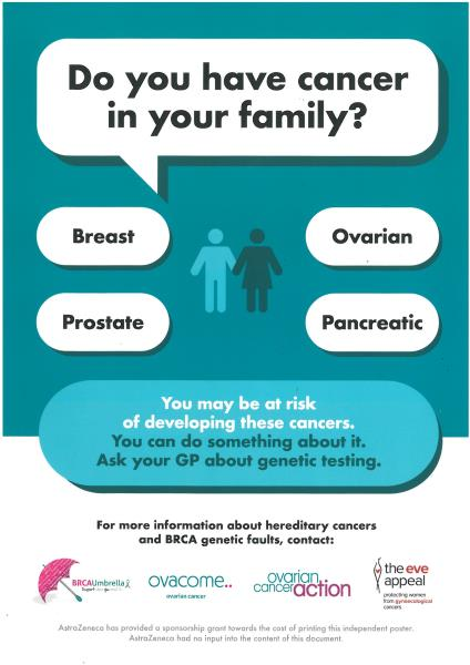 Do you have cancer in your family poster