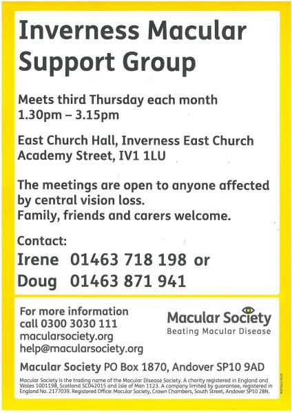 Macular Support Group Poster