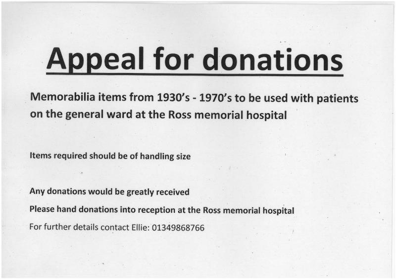 RMH Appeal for Donations